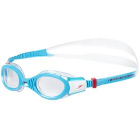 speedo Futura Biofuse Flexiseal Goggles Kids, white/turquoise/clear